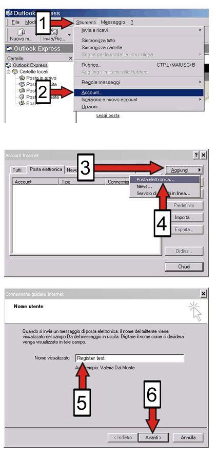 configurazione outlook